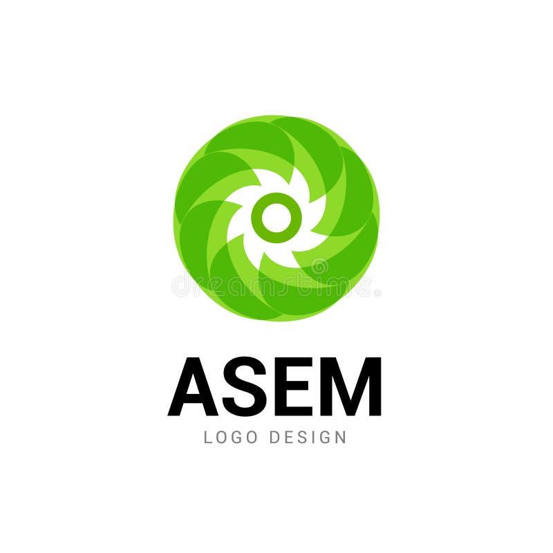 Abstract logo circle icon. Technology logo design, modern shape company symbol royalty free illustration