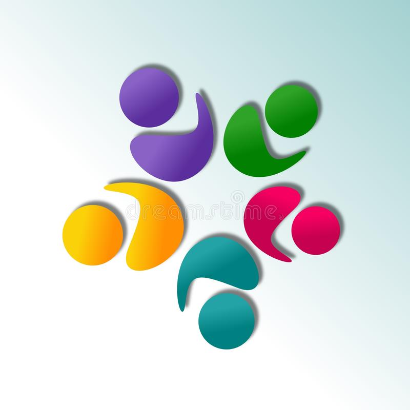 Download Abstract Logo design stock illustration. Image of collaborate - 32321383