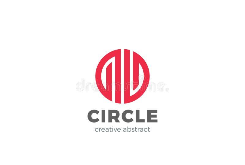 Abstract Logo design vector Circle Luxury Fashion royalty free illustration