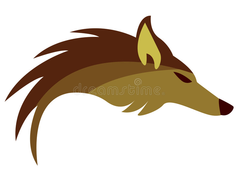 Abstract logo with golden fox stock illustration