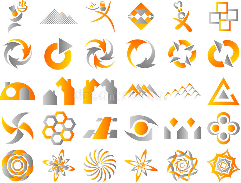Abstract Logo Icon Design Elements royalty free illustration