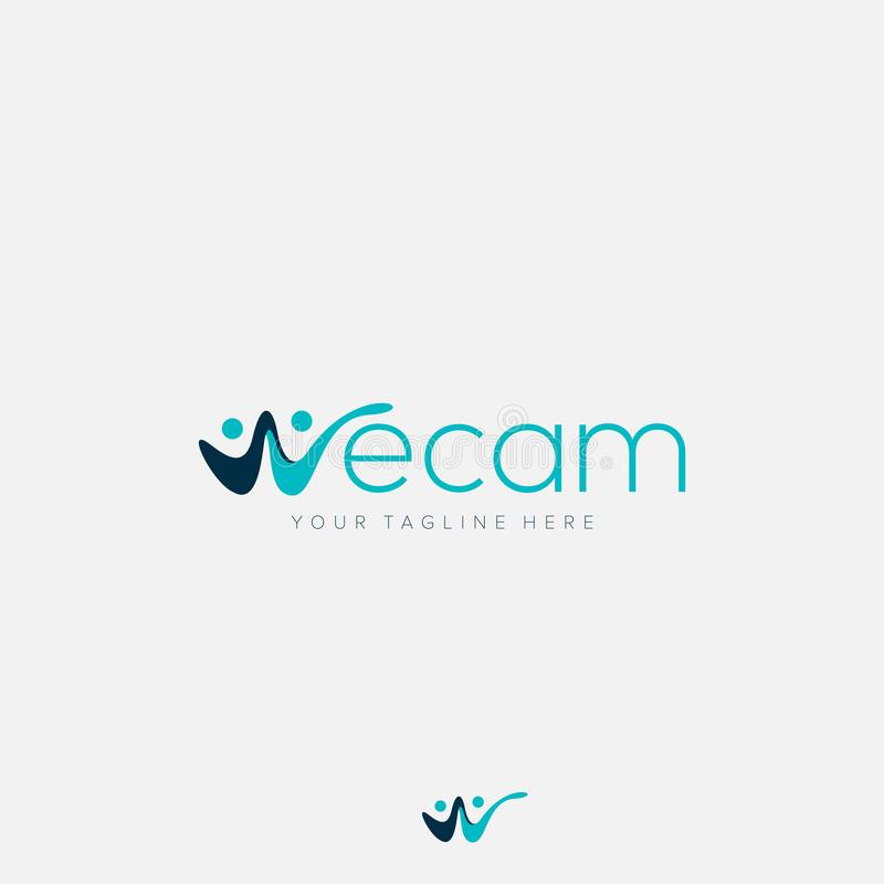 Abstract logo for initial w in we cam for together. Abstract w initial logo like people stock photos