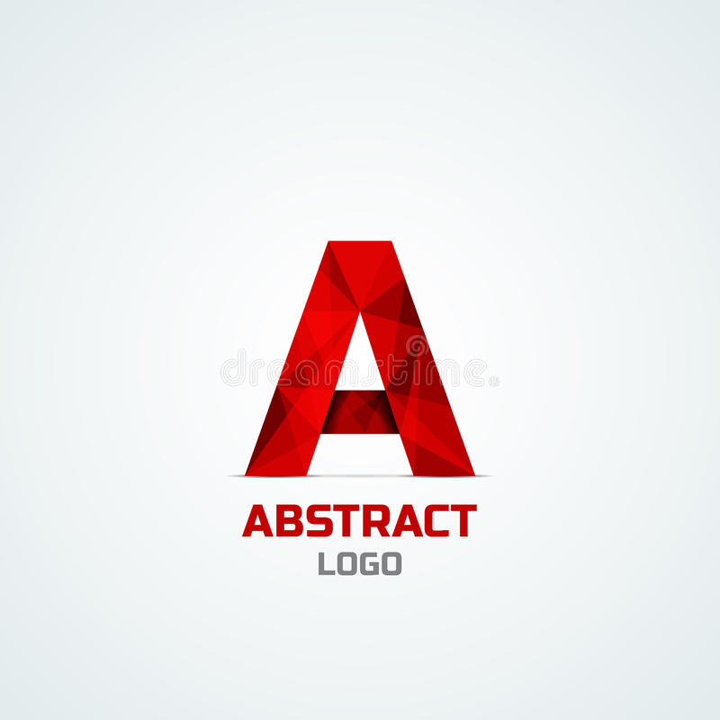 Abstract logo with A letter stock illustration