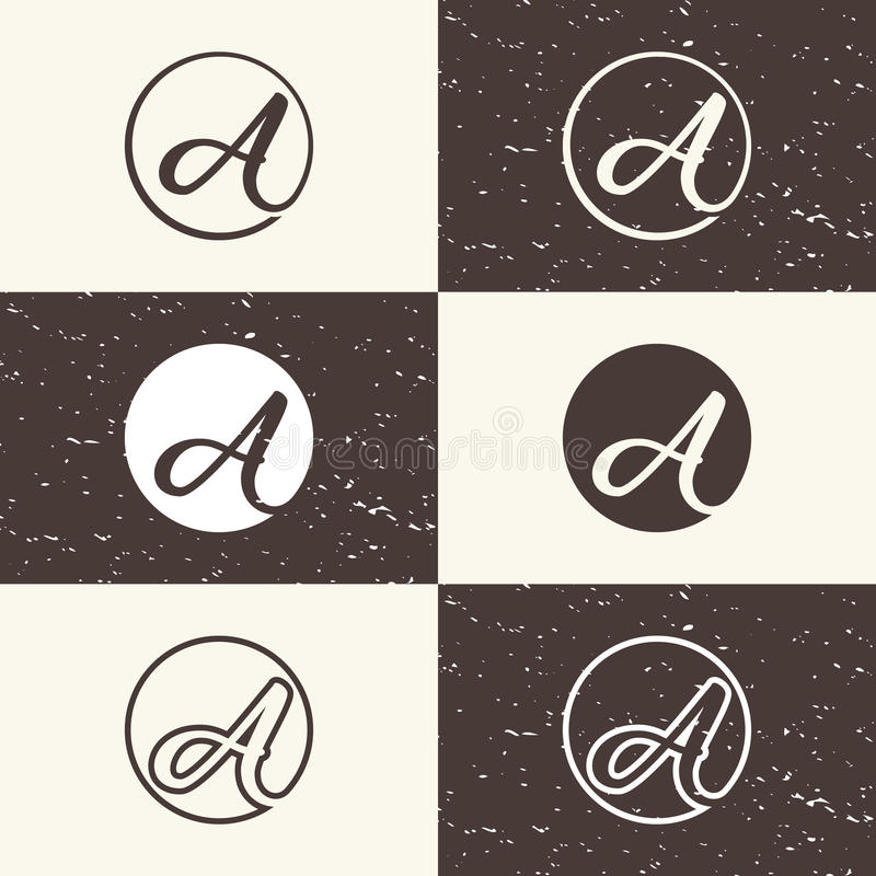 Abstract Logo letters `A` vintage style. Design Logo vector `A vector illustration