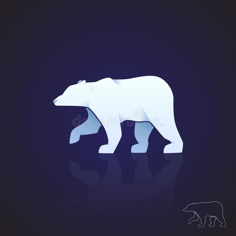 Abstract logo polar bear. Vector illustration. stock illustration