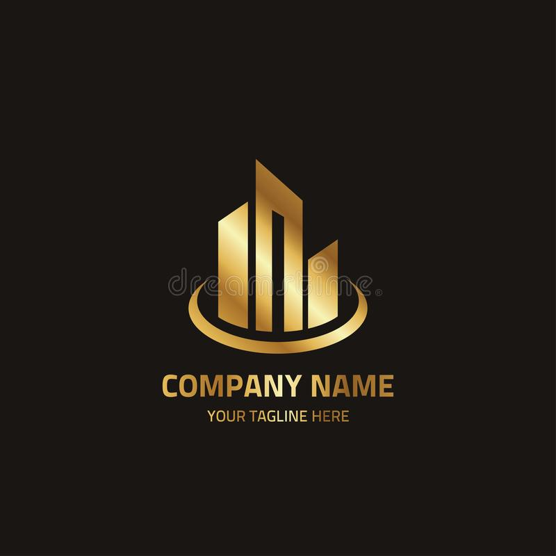 Abstract Logo Template For Corporate Identity 10 stock illustration