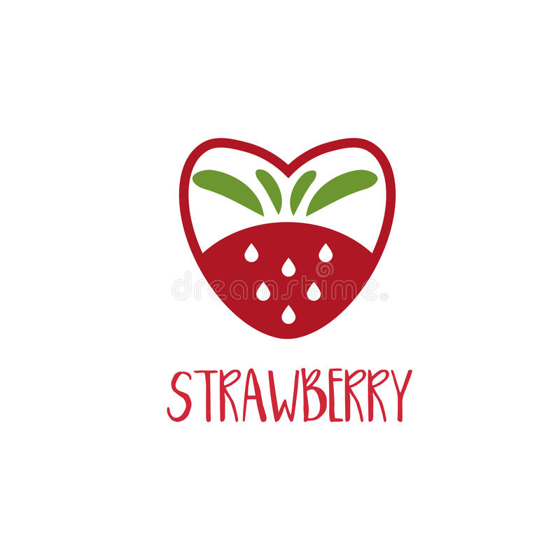 Abstract Logo Template Strawberry. Vector Stock Vector ...