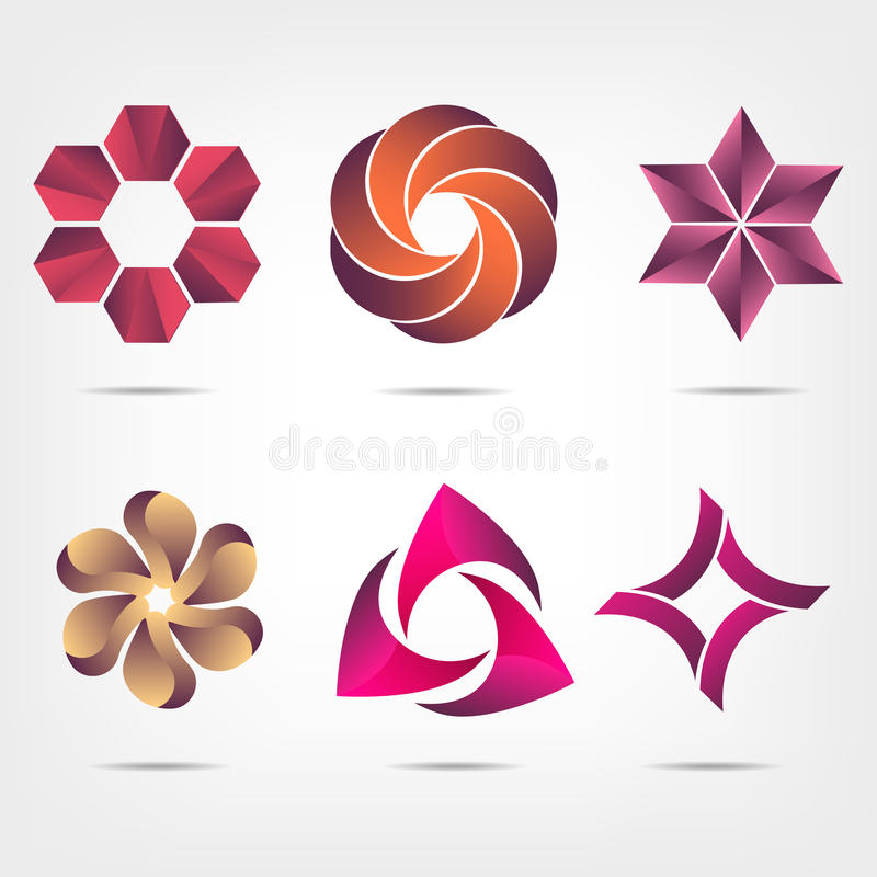 Abstract logo templates set. Vector icons for any type of business vector illustration