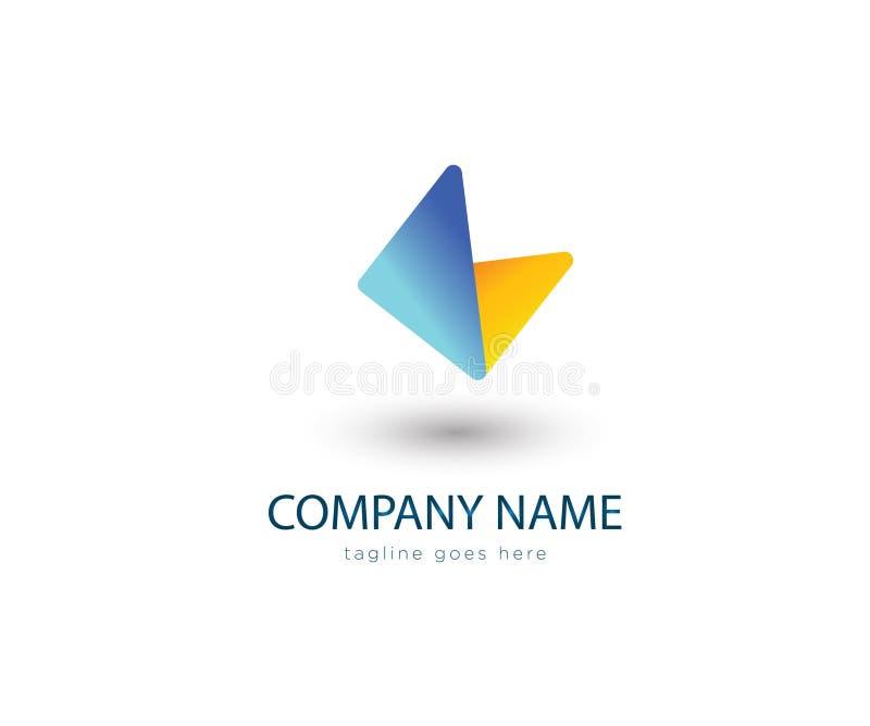 Abstract logo type economical design royalty free illustration