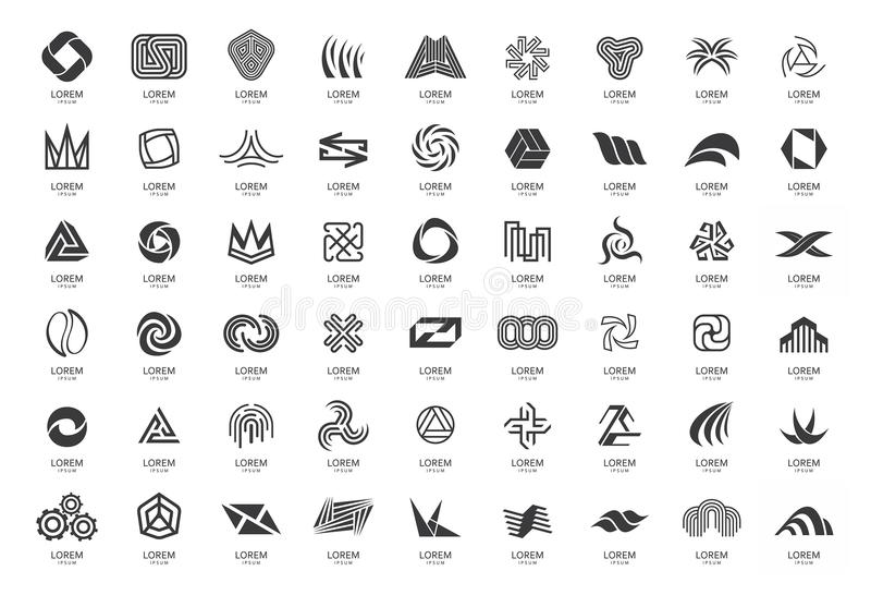 Abstract logos collection stock illustration