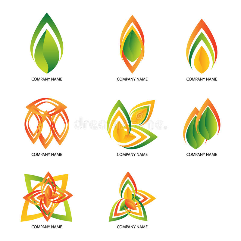 Abstract company bussiness logos stock images
