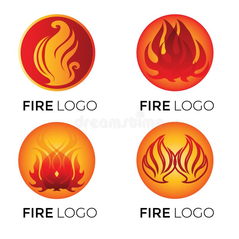 Abstract logotypes - fire stock illustration