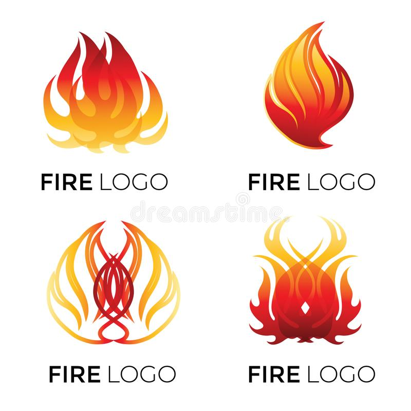 Abstract logotypes - fire vector illustration