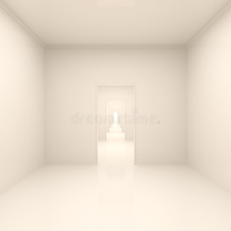 Abstract Long Corridor stock illustration