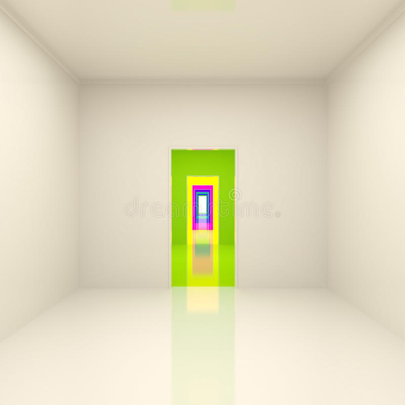 Abstract Long Corridor vector illustration