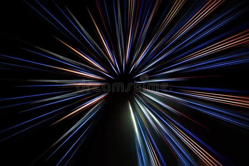 Abstract long exposure, colorful lines speed motion background royalty free stock photos