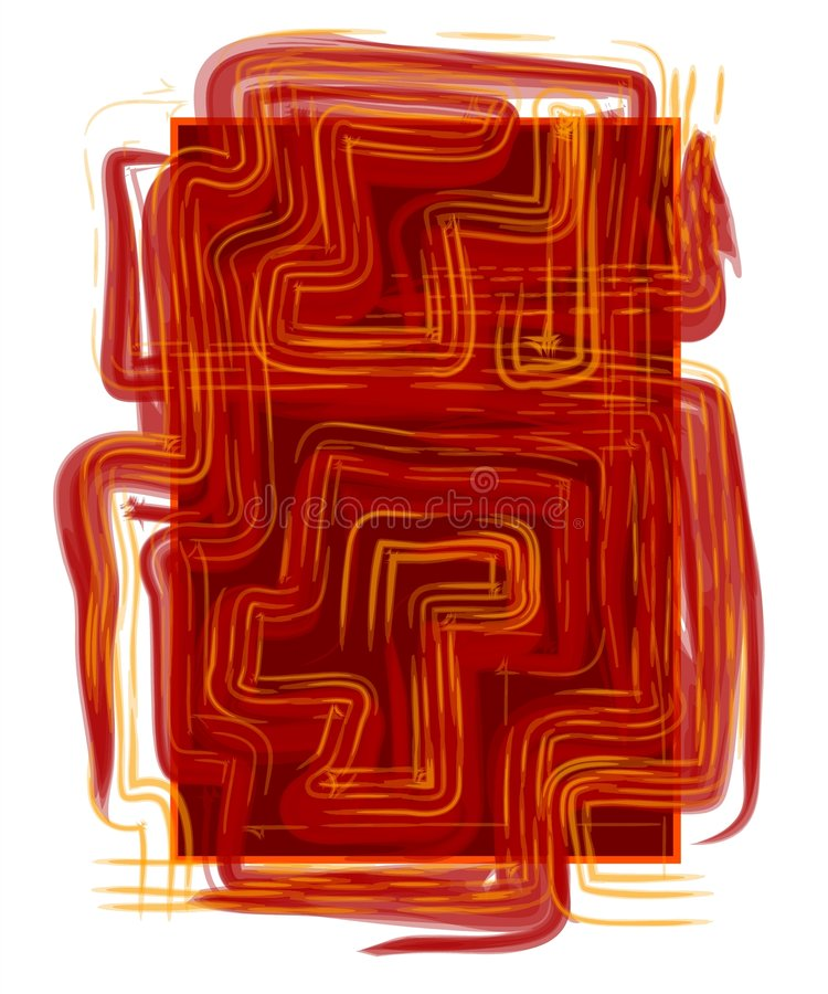 Abstract Looking Texture Red stock illustration
