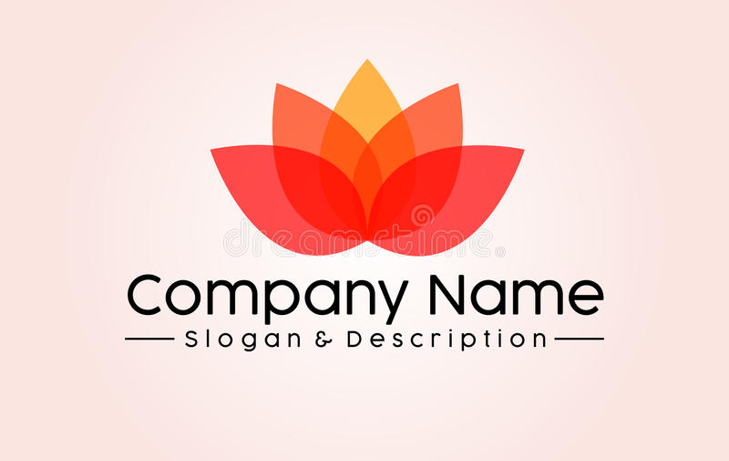 Abstract Lotus Spa et logo de Company images stock