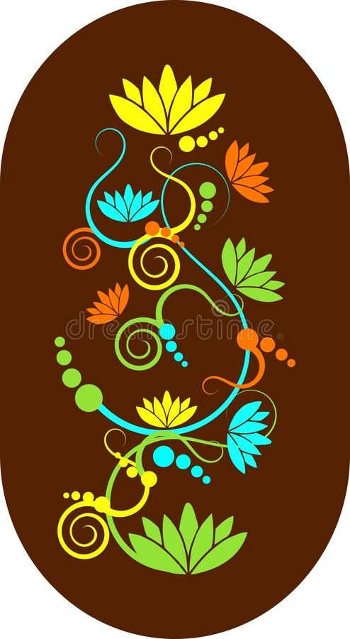 Download Abstract lotus swirls stock illustration. Image of brown - 16164147