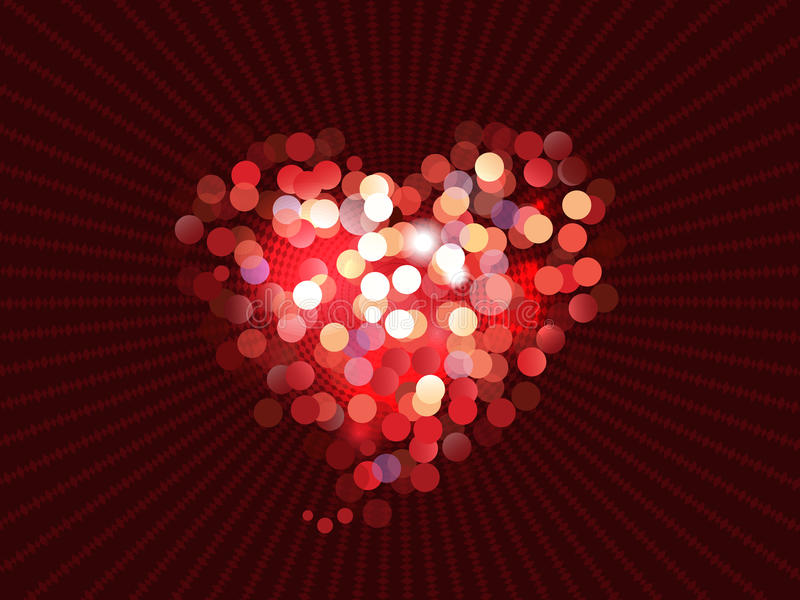 Abstract love bokeh background vector illustration