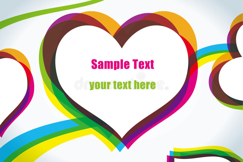 Download Abstract Love Colorful Heart Background Stock Vector - Illustration: 15167440