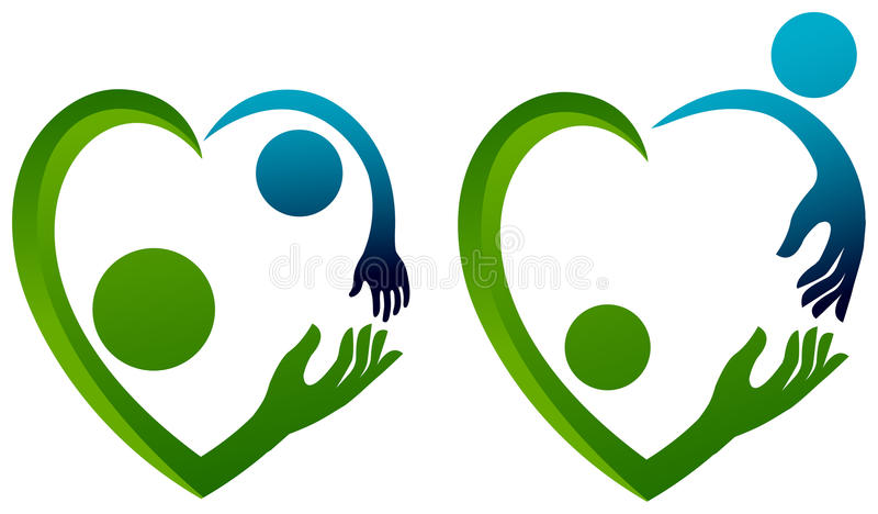 Abstract love. Abstract family and couple designs vector illustration