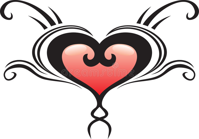 Download Abstract love heart crest stock vector. Image of element - 6433950