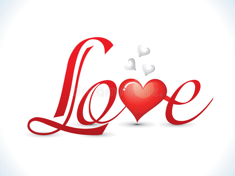 Abstract love text royalty free illustration