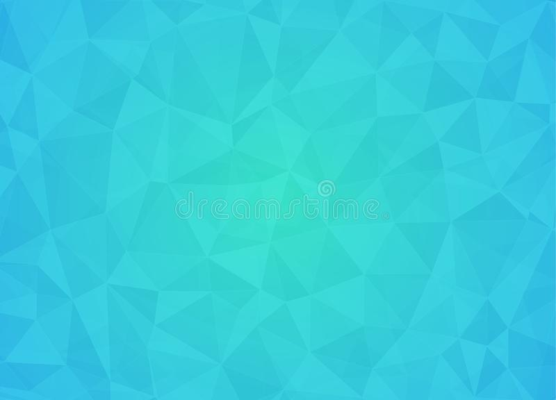 Abstract low poly background of triangles in light blue, black c royalty free illustration