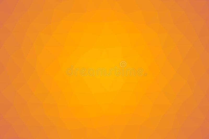 Abstract low poly light orange background texture made from colored triangles royalty free illustration