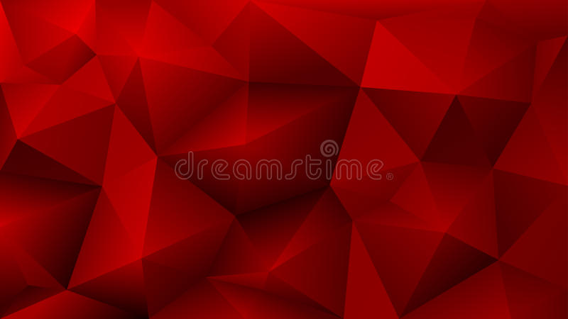 Abstract low poly red background of triangles royalty free illustration