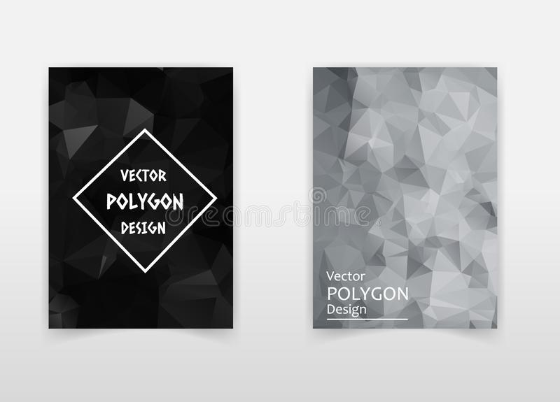 Abstract low polygon background for Poster Brochure Flyer design Layout vector template in A4 size royalty free illustration