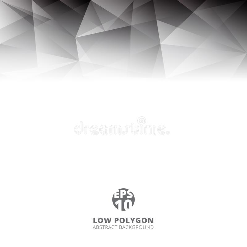 Abstract low polygon light gray color polygonal shape background vector illustration