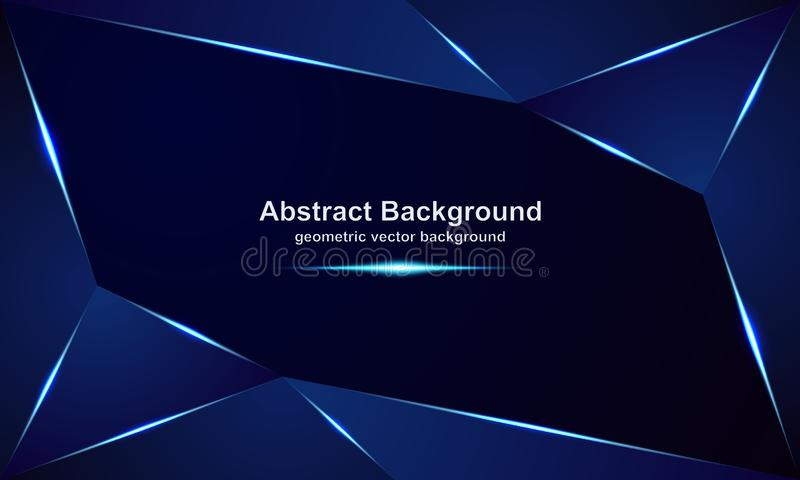 Abstract, luxurious, modern, polygonal, metallic vector backgrounds with a mixture of blue and dark colors vector illustration