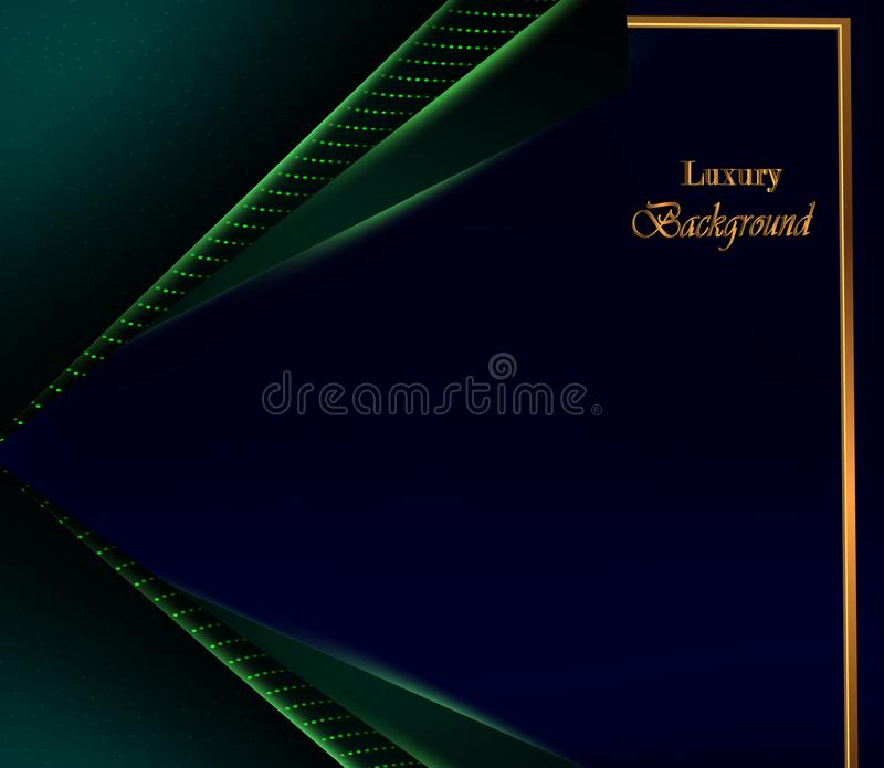 Abstract luxury background with blue dark overlap layer vector illustration