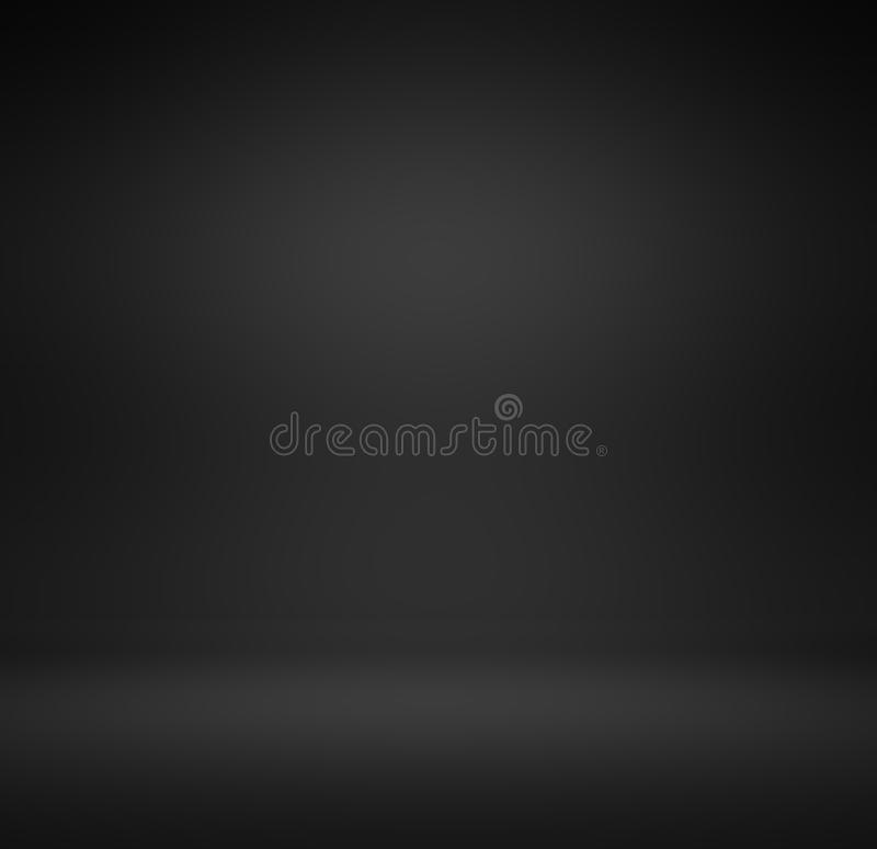Abstract luxury black gradient with border black vignette background Studio backdrop - well use as back drop background, black bo stock photography