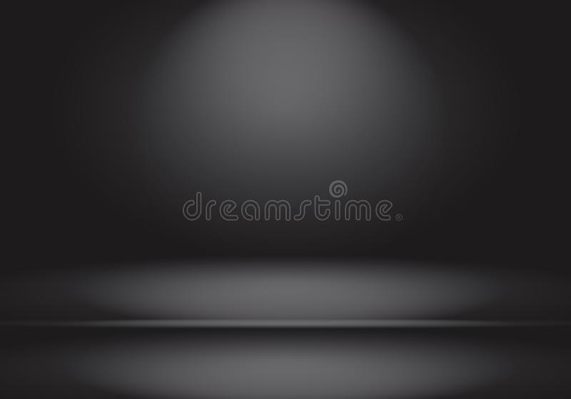 Abstract luxury blur dark grey and black gradient, used as background studio wall for display your products. stock photo