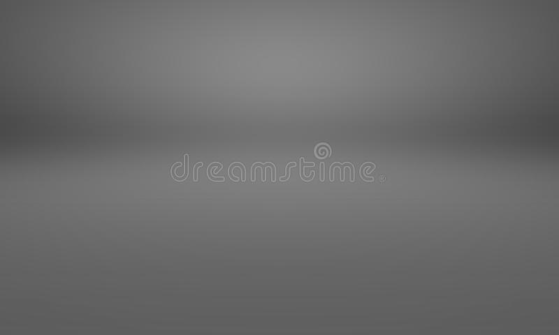 Abstract luxury blur dark grey and black gradient, used as background studio wall for display your products. Abstract luxury blur dark grey and black gradient royalty free illustration