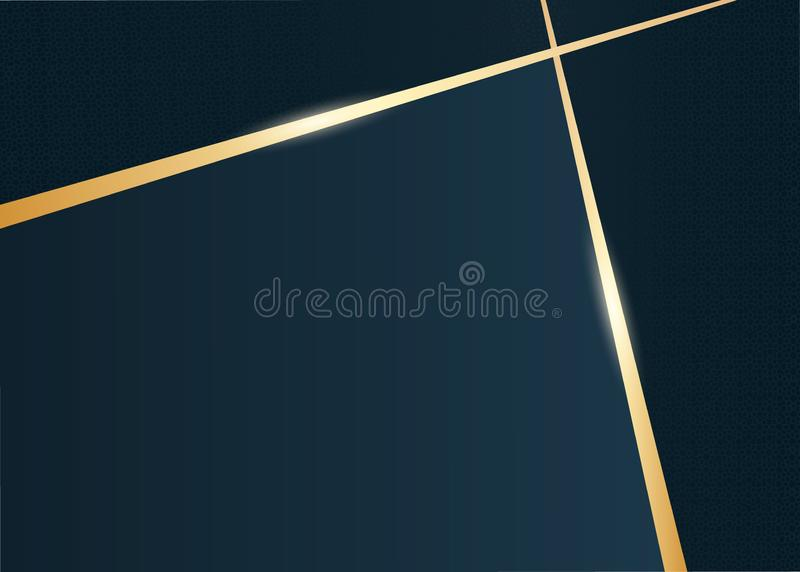 Abstract luxury gold and dark blue background royalty free illustration