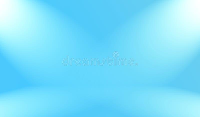 Abstract Luxury gradient Blue background. Smooth Dark blue with Black vignette Studio Banner. stock illustration