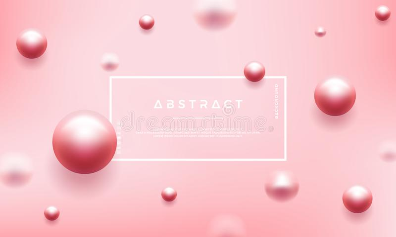 Abstract luxury pink background with beautiful pearls. Can be used for your cosmetic promotion posters vector illustration