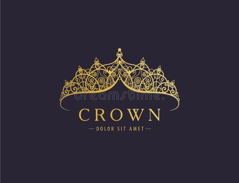 Abstract luxury, royal golden company logo icon vector design. stock image