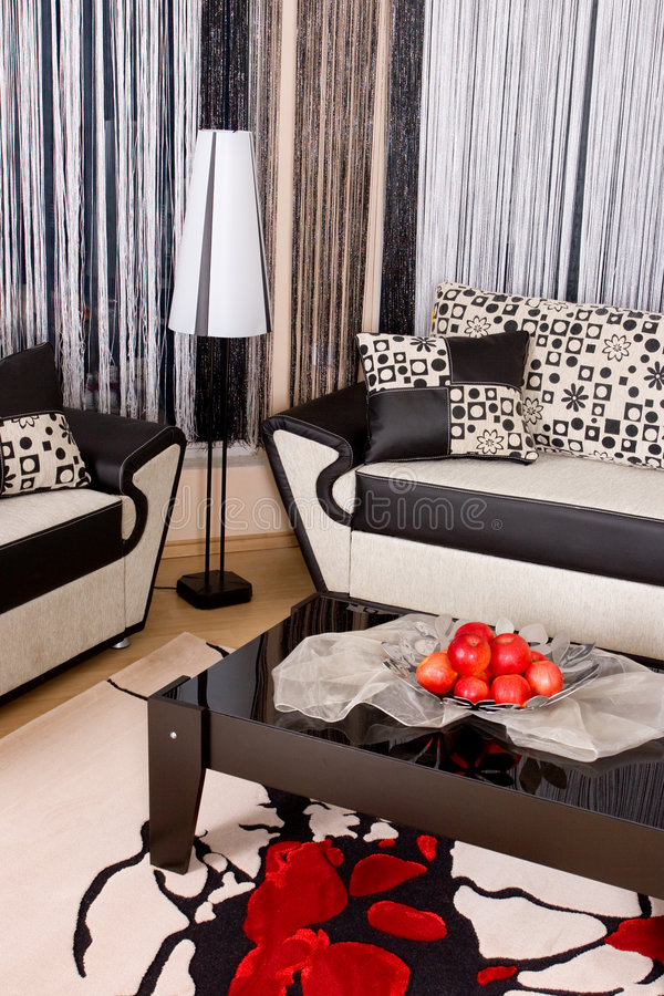 Abstract luxury sofa stock photography