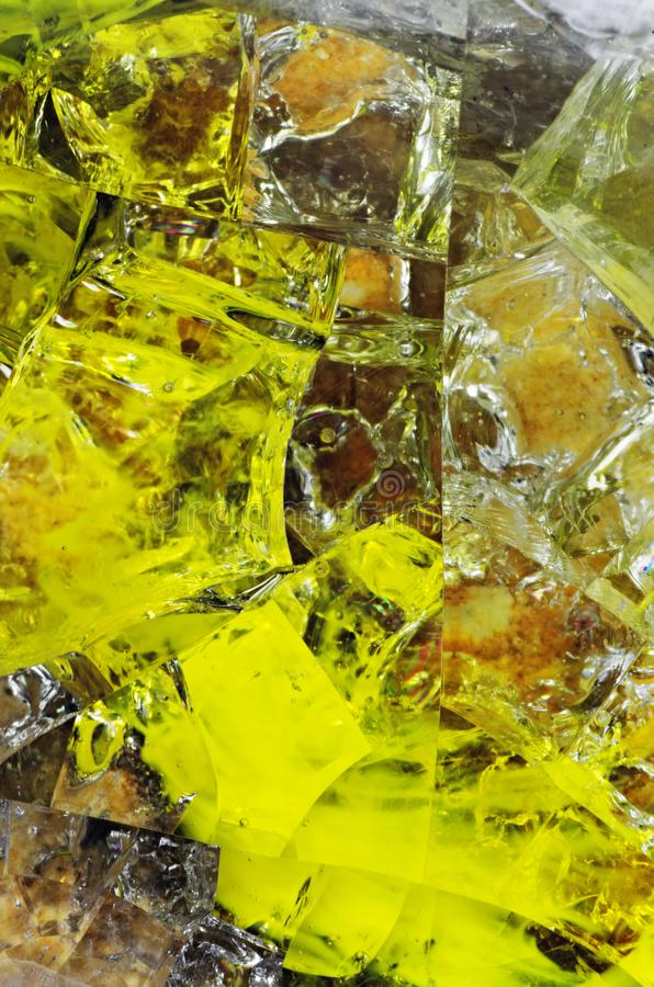 Colored molten glass royalty free stock photography