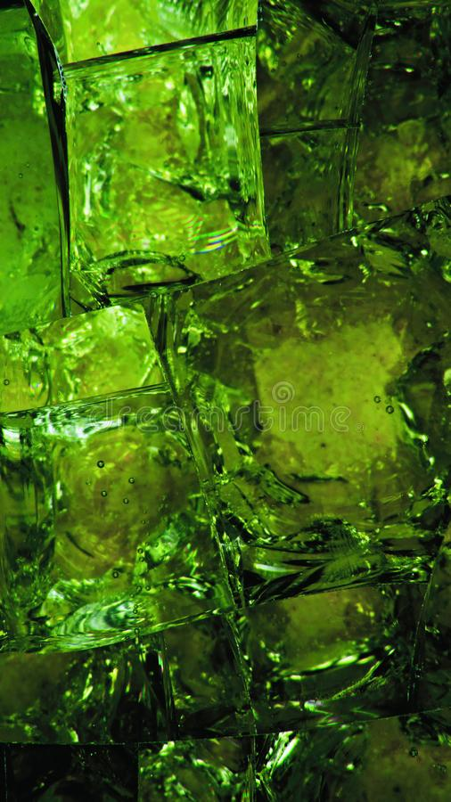 Colored molten glass stock images