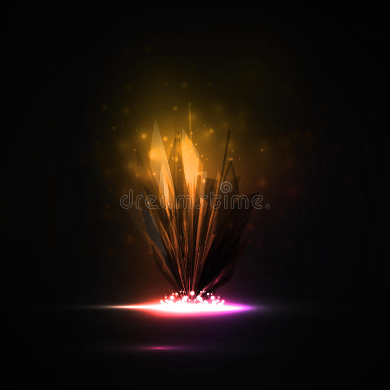 Download Abstract magic crystal stock vector. Image of colored - 34026988