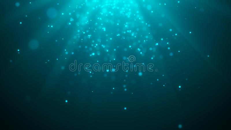Abstract magic light background. Bokeh background. 3d rendering. Abstract magic light background. Bokeh background royalty free illustration