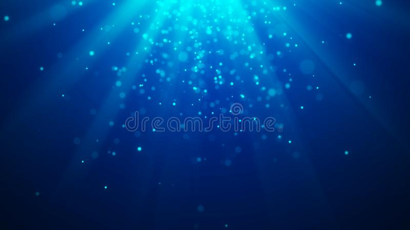 Abstract magic light background. Bokeh background. 3d rendering. Abstract magic light background. Bokeh background stock illustration