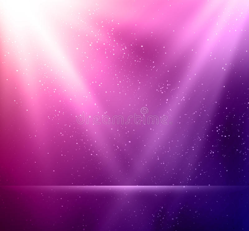 Abstract magic violet light background royalty free illustration