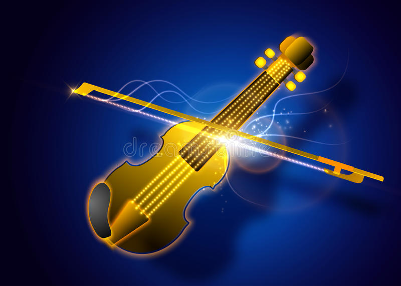 Abstract magic violin illustration. Vector music background. Abstract magic violin illustration. Vector music background stock illustration